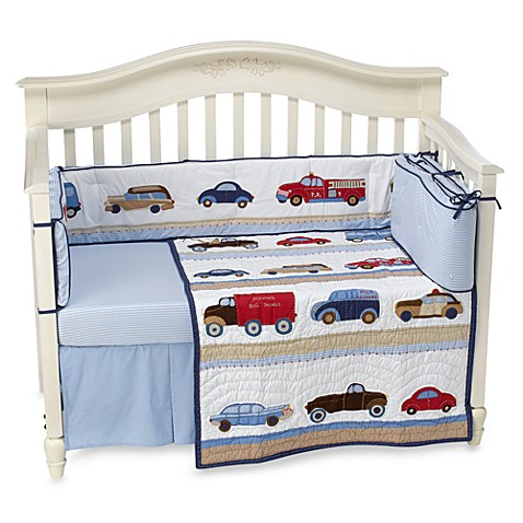 Whistle Amp Wink Cars And Trucks 3 Piece Crib Bedding Set