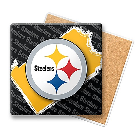 Nfl Pittsburgh Steelers State Coasters Set Of 6 Bed