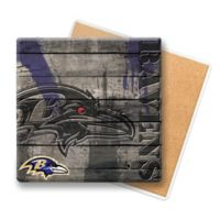 NFL Baltimore Ravens Wooden Coasters (Set of 6)