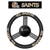 NFL New Orleans Saints Leather Steering Wheel Cover