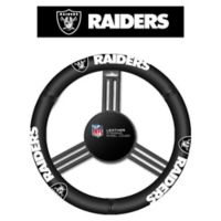 NFL Oakland Raiders Leather Steering Wheel Cover