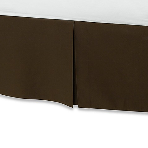 buy smoothweave 14 inch tailored twin extra long bed skirt in chocolate from bed bath beyond. Black Bedroom Furniture Sets. Home Design Ideas