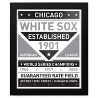 MLB Chicago White Sox Black and White Team Sign Framed Print