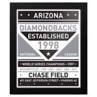 MLB Arizona Diamondbacks Black and White Team Sign Framed Print
