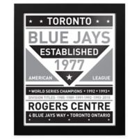 MLB Toronto Blue Jays Black and White Team Sign Framed Print