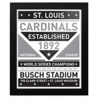 MLB St. Louis Cardinals Black and White Team Sign Framed Print