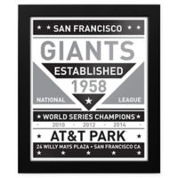 MLB San Francisco Giants Black and White Team Sign Framed Print
