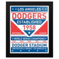 MLB Los Angeles Dodgers Dual Tone Team Sign Framed Print