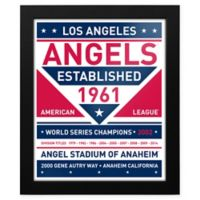 MLB Los Angeles Angels Dual Tone Team Sign Framed Print