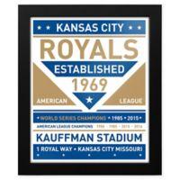 MLB Kansas City Royals Dual Tone Team Sign Framed Print