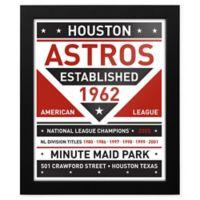 MLB Houston Astros Dual Tone Team Sign Framed Print