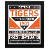 MLB Detroit Tigers Dual Tone Team Sign Framed Print