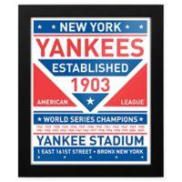 MLB New York Yankees Dual Tone Team Sign Framed Print