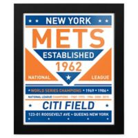 MLB New York Mets Dual Tone Team Sign Framed Print