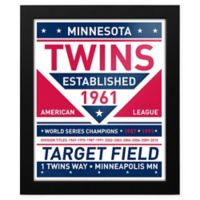 MLB Minnesota Twins Dual Tone Team Sign Framed Print