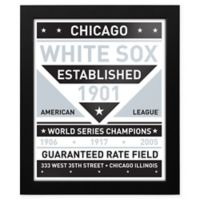 MLB Chicago White Sox Dual Tone Team Sign Framed Print