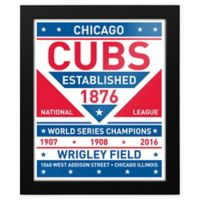 MLB Chicago Cubs Dual Tone Team Sign Framed Print