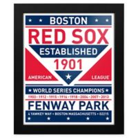 MLB Boston Red Sox Dual Tone Team Sign Framed Print
