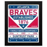 MLB Atlanta Braves Dual Tone Team Sign Framed Print