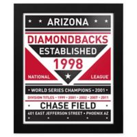 MLB Arizona Diamondbacks Dual Tone Team Sign Framed Print