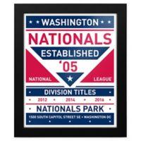 MLB Washington Nationals Dual Tone Team Sign Framed Print