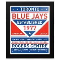 MLB Toronto Blue Jays Dual Tone Team Sign Framed Print