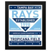 MLB Tampa Bay Rays Dual Tone Team Sign Framed Print