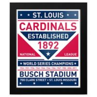 MLB St. Louis Cardinals Dual Tone Team Sign Framed Print