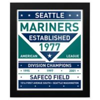 MLB Seattle Mariners Dual Tone Team Sign Framed Print