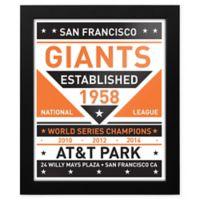 MLB San Francisco Giants Dual Tone Team Sign Framed Print