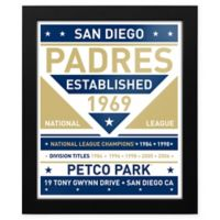 MLB San Diego Padres Dual Tone Team Sign Framed Print