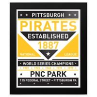 MLB Pittsburgh Pirates Dual Tone Team Sign Framed Print