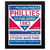 MLB Philadelphia Phillies Dual Tone Team Sign Framed Print