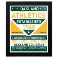 MLB Oakland Athletics Dual Tone Team Sign Framed Print