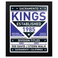NBA Sacramento Kings Dual Tone Team Sign Framed Print