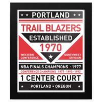 NBA Portland Trail Blazers Dual Tone Team Sign Framed Print