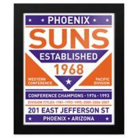 NBA Phoenix Suns Dual Tone Team Sign Framed Print