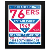 NBA Philadelphia 76ers Dual Tone Team Sign Framed Print