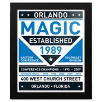 NBA Orlando Magic Dual Tone Team Sign Framed Print