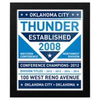 NBA Oklahoma Thunder Dual Tone Team Sign Framed Print