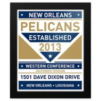 NBA New Orleans Pelicans Dual Tone Team Sign Framed Print