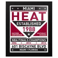 NBA Miami Heat Dual Tone Team Sign Framed Print
