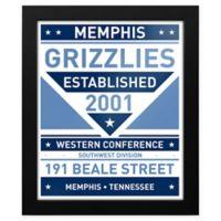 NBA Memphis Grizzlies Dual Tone Team Sign Framed Print