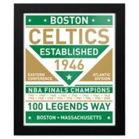 NBA Boston Celtics Dual Tone Team Sign Framed Print
