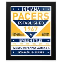 NBA Indiana Pacers Dual Tone Team Sign Framed Print