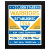 NBA Golden State Warriors Dual Tone Team Sign Framed Print