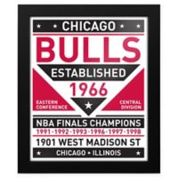 NBA Chicago Bulls Dual Tone Team Sign Framed Print