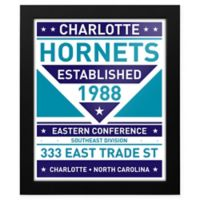 NBA Charlotte Hornets Dual Tone Team Sign Framed Print