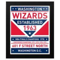 NBA Washington Wizards Dual Tone Team Sign Framed Print