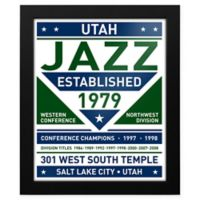 NBA Utah Jazz Dual Tone Team Sign Framed Print